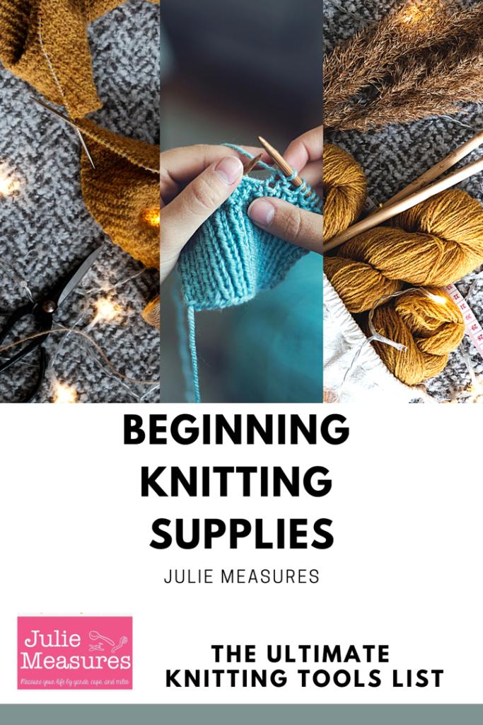 beginning knitting supplies