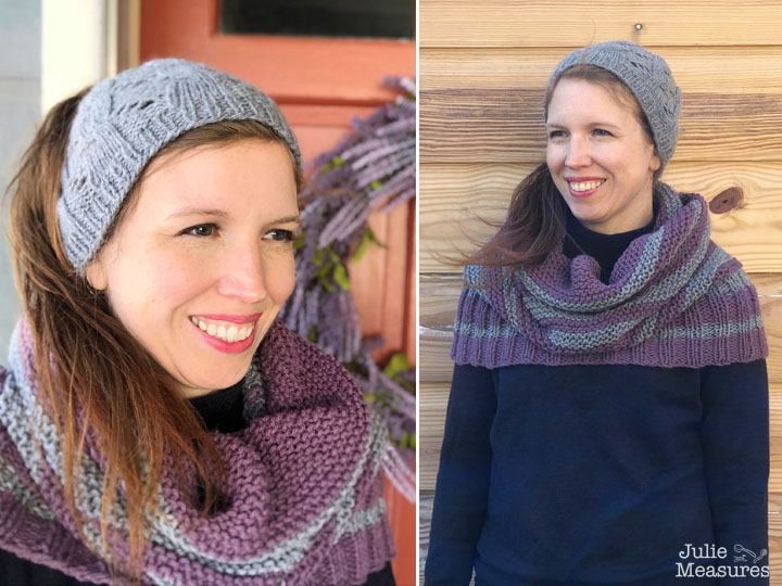cable eyelet knit messy bun hat