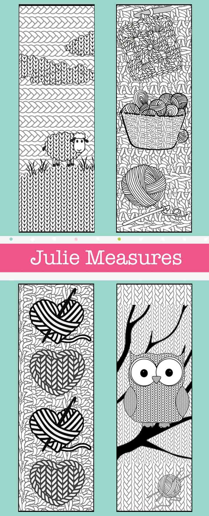 Yarn themed Bookmarks