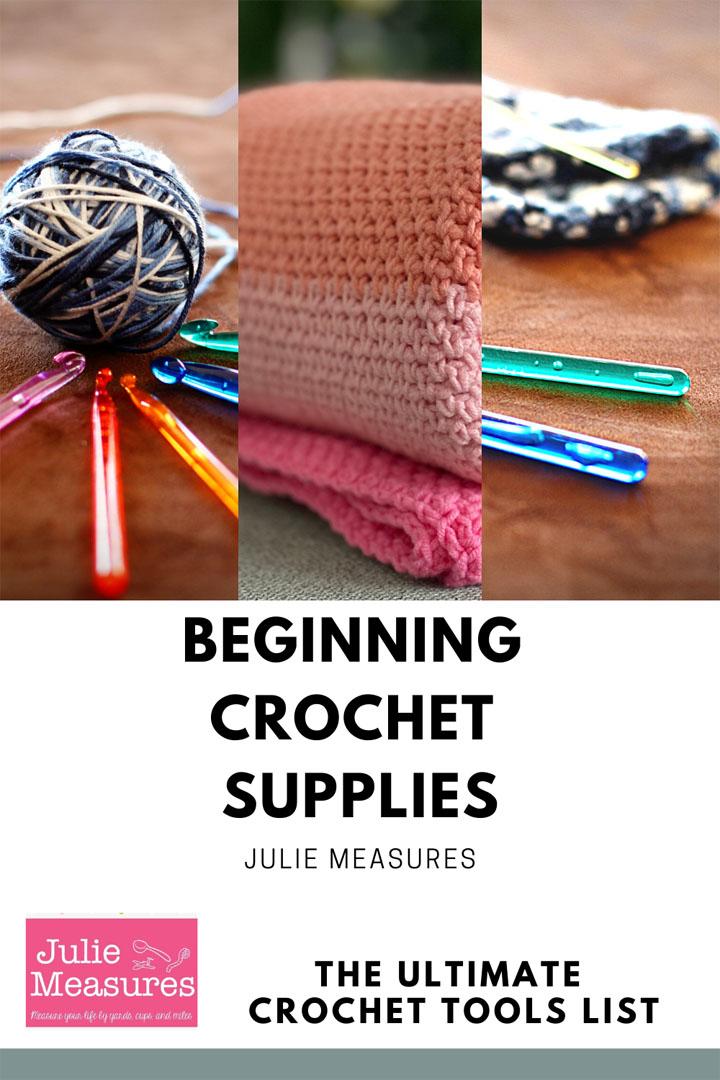 beginning crochet supplies