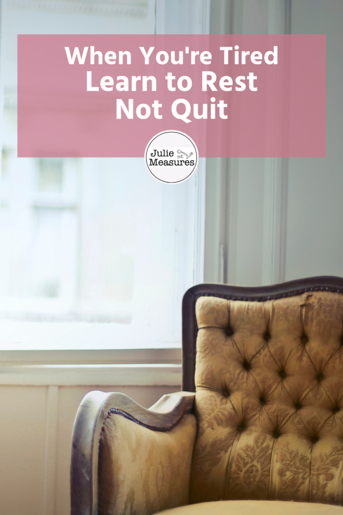 Rest Don't Quit