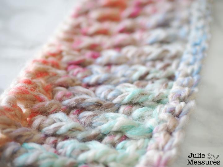twisted crochet headband