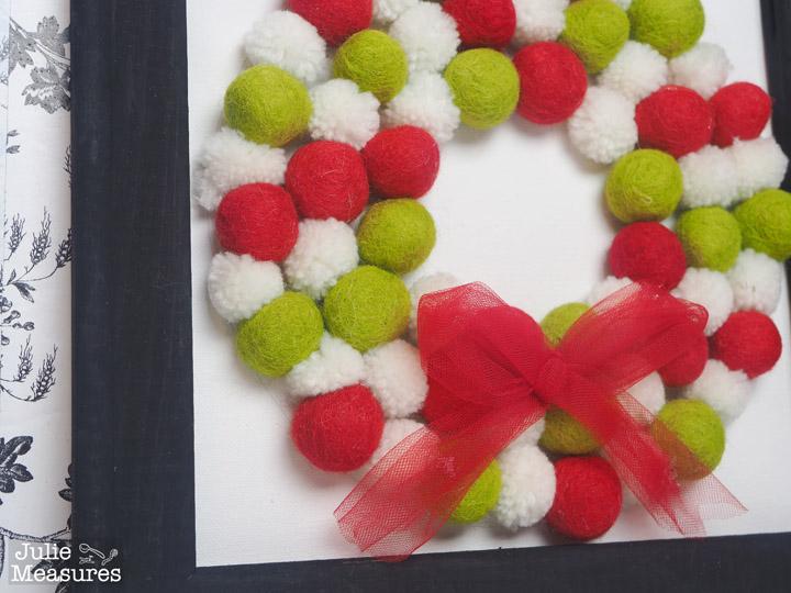 Christmas Felt Ball Wreath Canvas