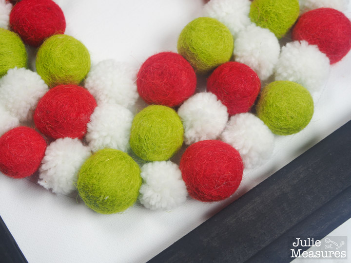 Felt Ball Wreath Reverse Canvas