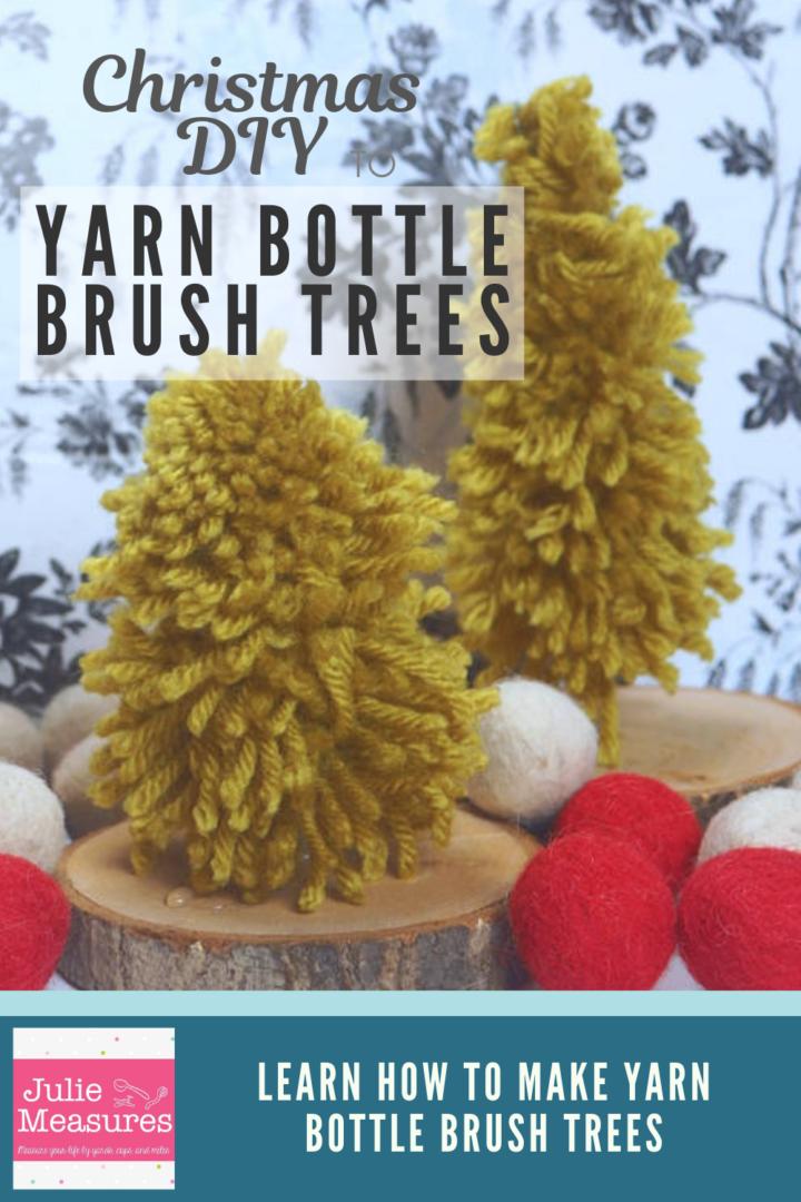 Yarn Bottle Brush Trees