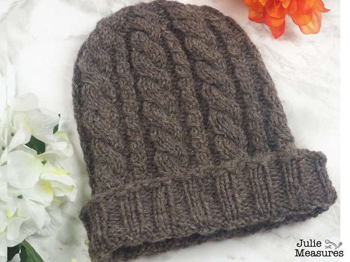Knit Cable Beanie Pattern