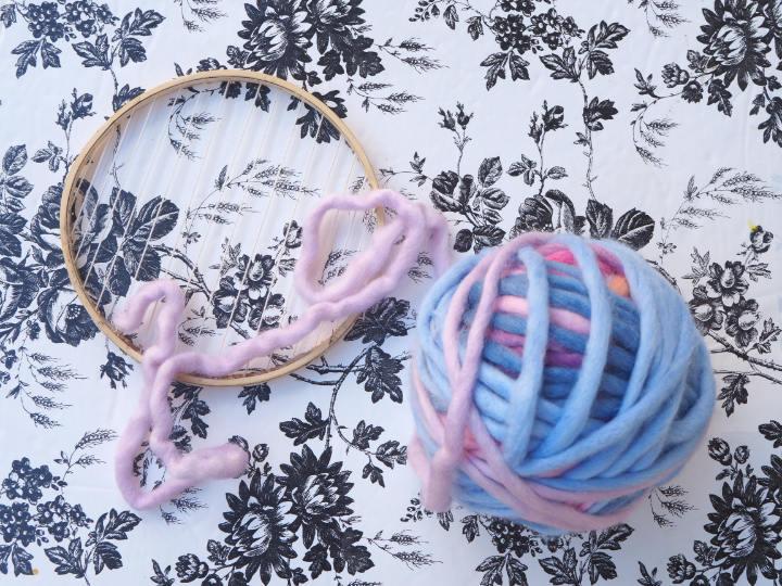Embroidery Hoop Weaving Yarn