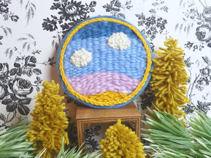 DIY Embroidery Hoop Weaving