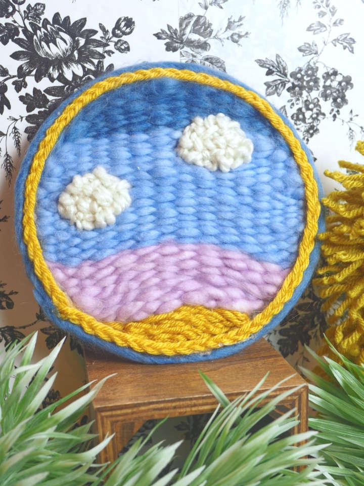 Embroidery Hoop Weaving